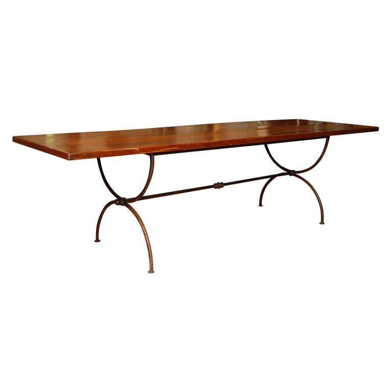 metal base dining table at 1stdibs