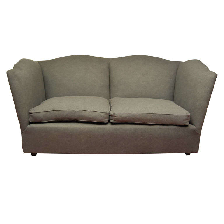 Charcoal grey wool flannel sofa for sale at 1stdibs for Gray sofas for sale