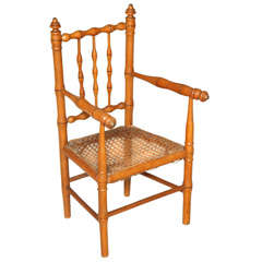 Bamboo Child Chair with Cane Seat