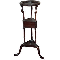English Mahogany Shaving Stand/Plant Stand