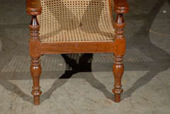 Cane Woven Plantation Chair image 3