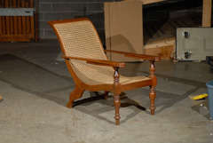 Cane Woven Plantation Chair image 2