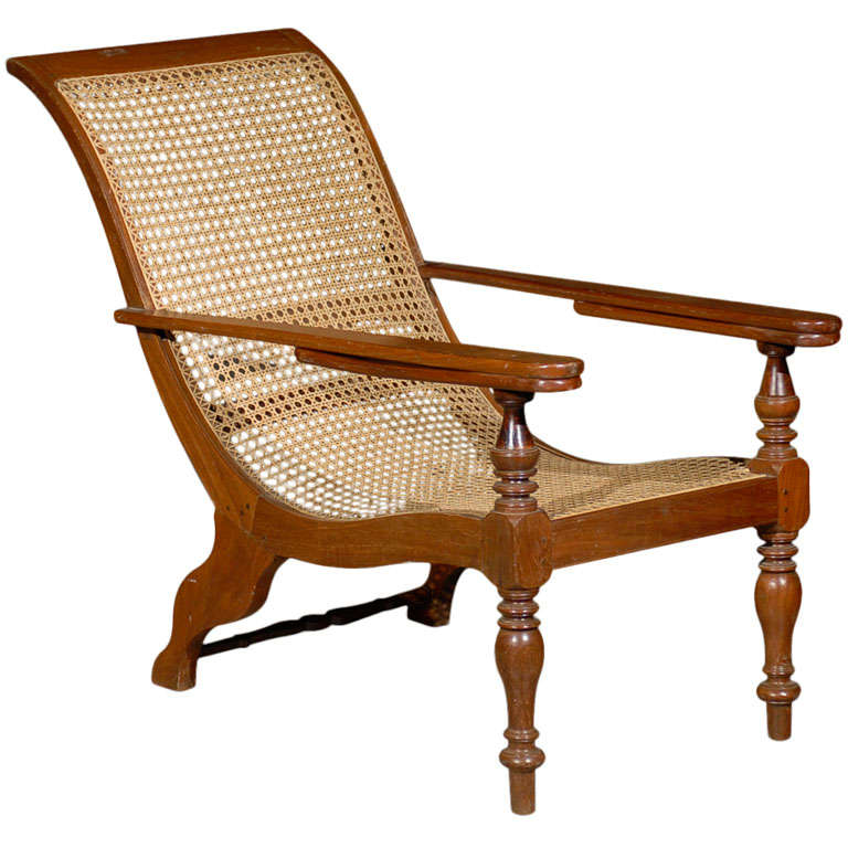 Cane Woven Plantation Chair