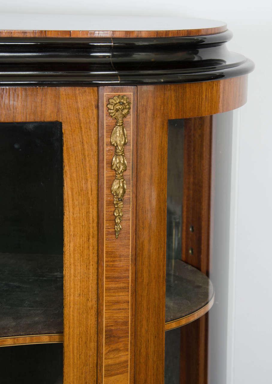 vintage french ormolu vitrine glass display cabinet at 1stdibs. Black Bedroom Furniture Sets. Home Design Ideas