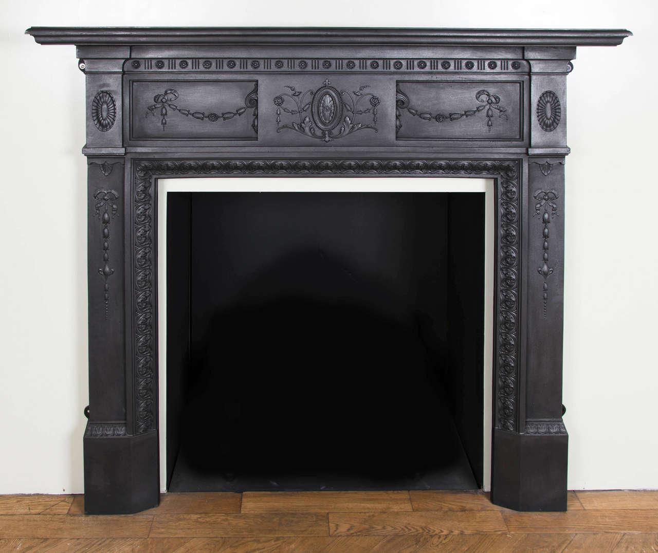 victorian cast iron fireplace surround round designs