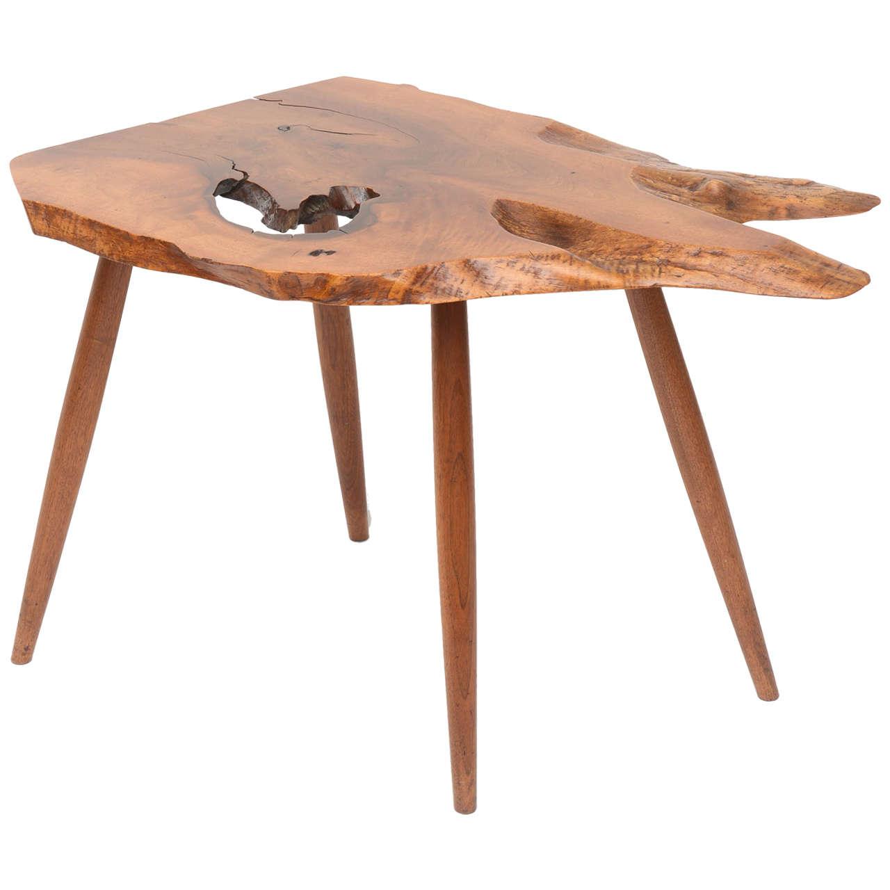 George Nakashima Slab End Table 1