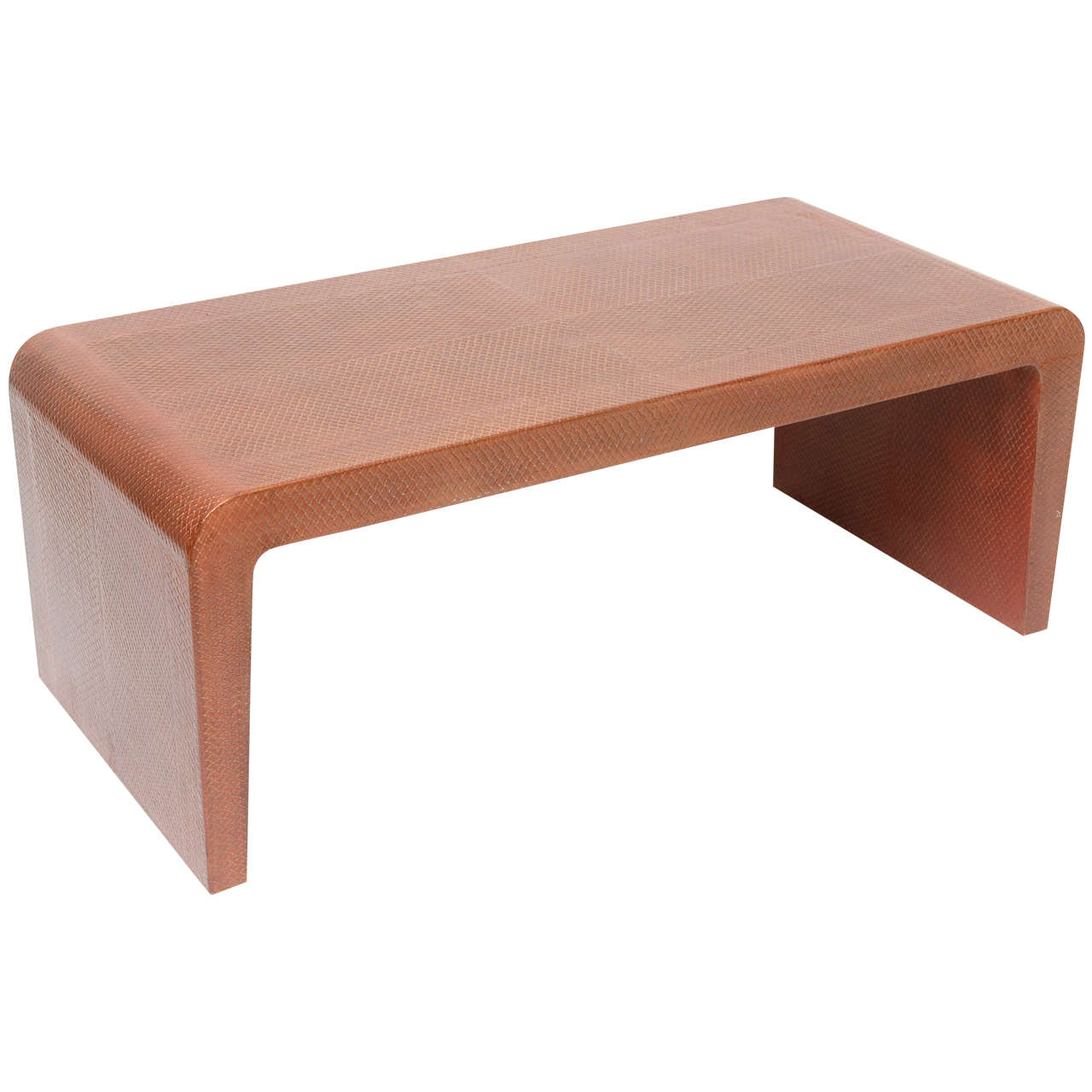 Karl Springer Embossed Leather Table