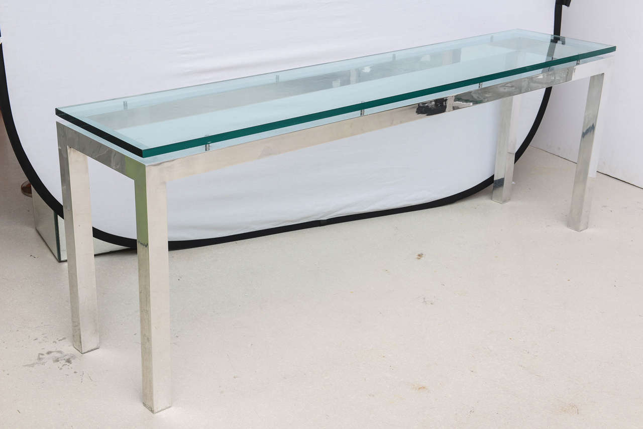 Delicieux Long Glass Table