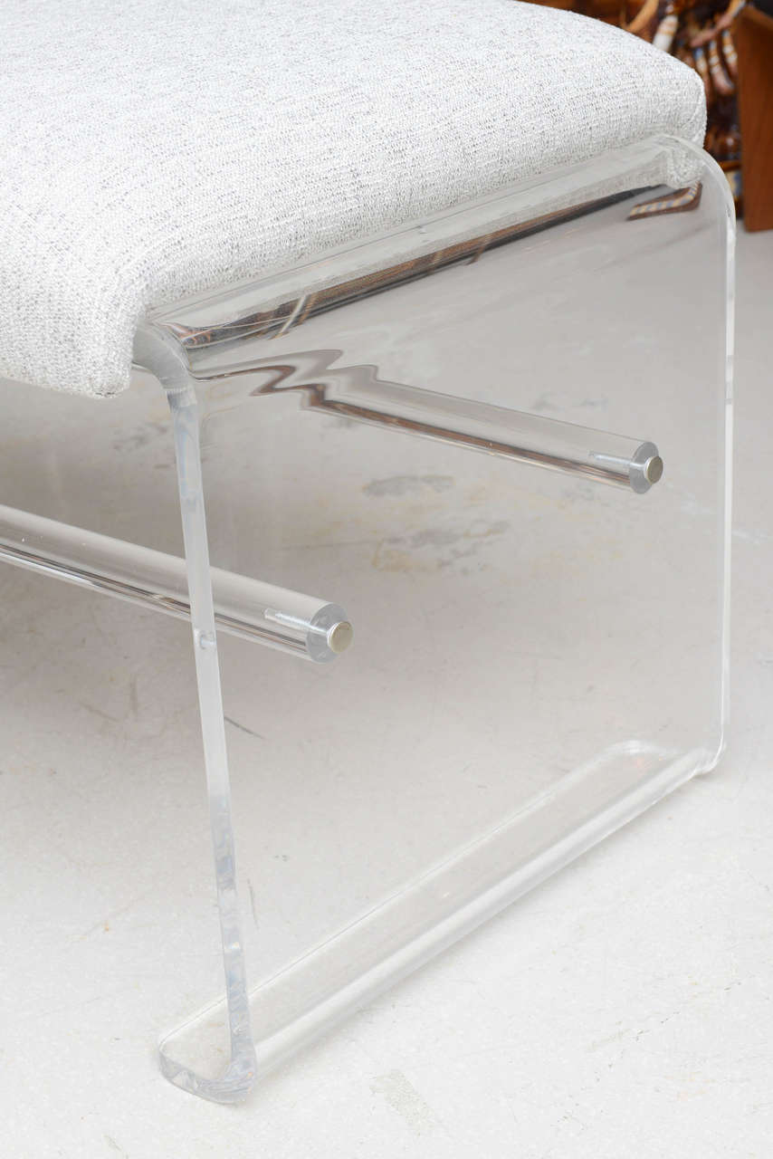 Oversized Lucite Bench At 1stdibs