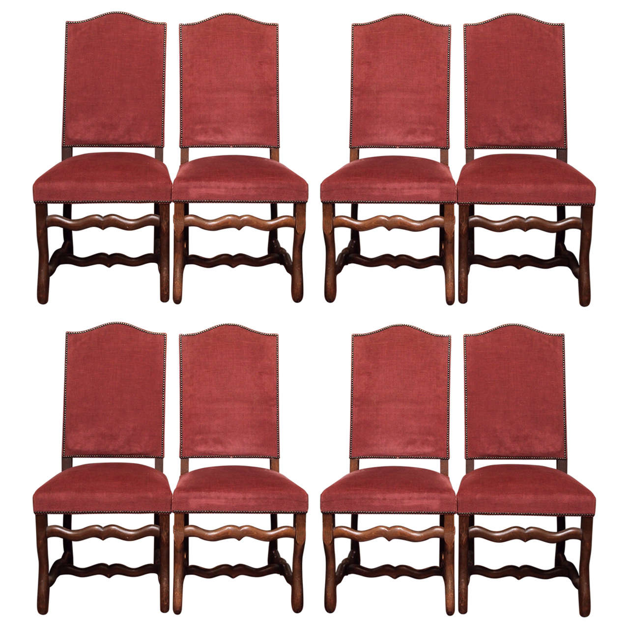 set of eight mouton dining room chairs at 1stdibs