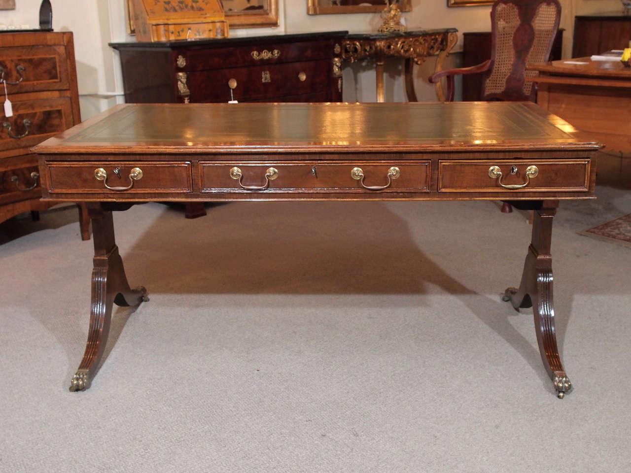 Old English Mahogany Library Table 2