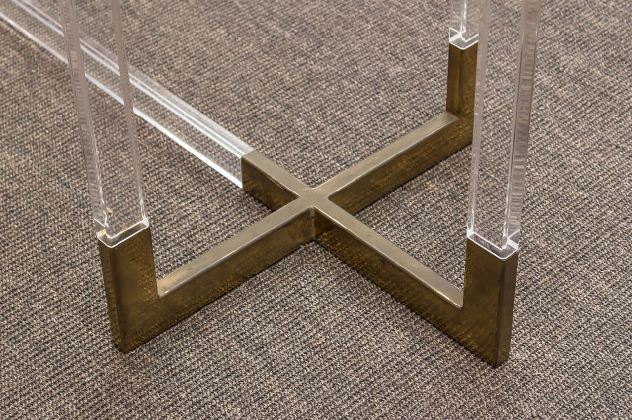 Charles Hollis Jones Metric Line Lucite Dining Table 3