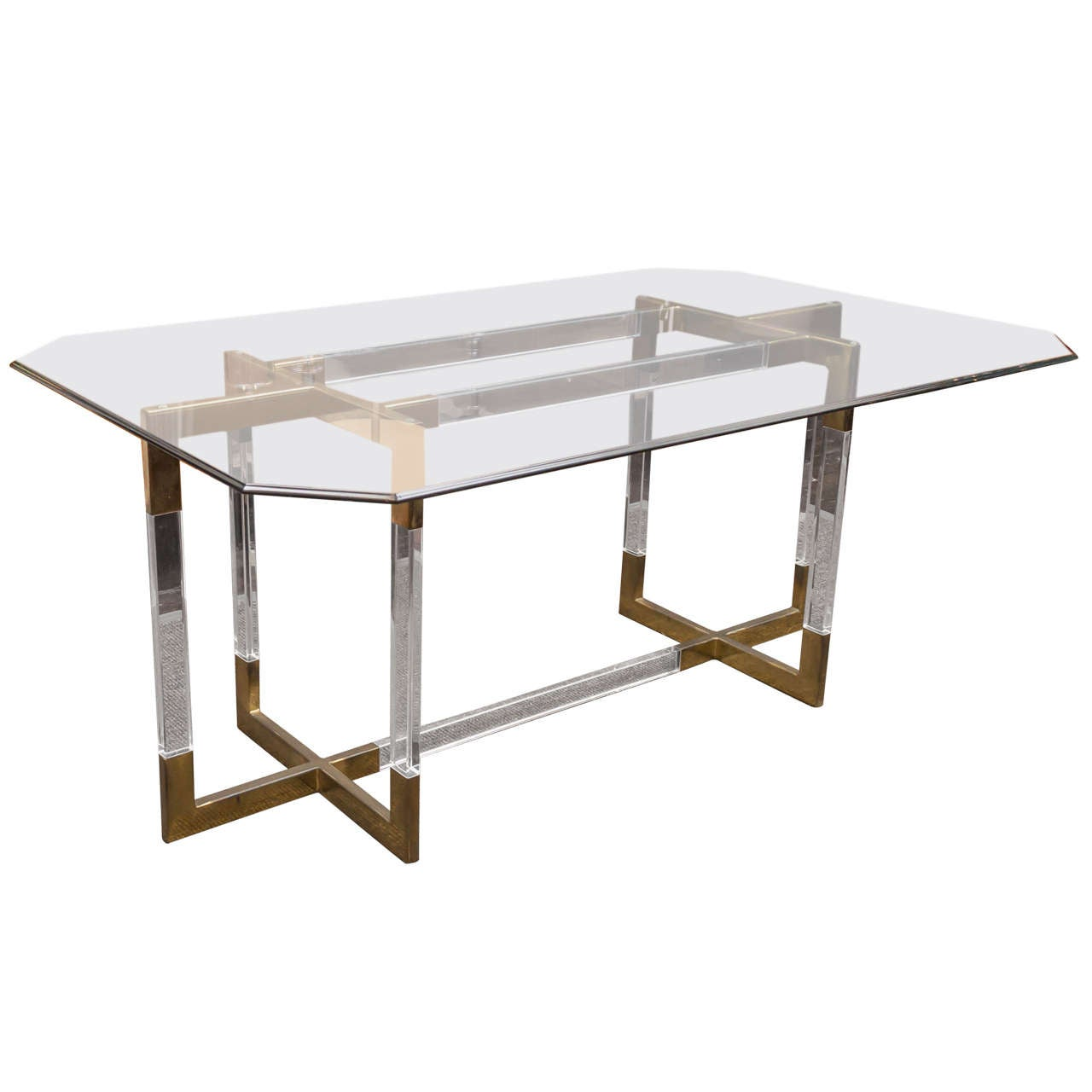 Charles Hollis Jones Metric Line Lucite Dining Table 1