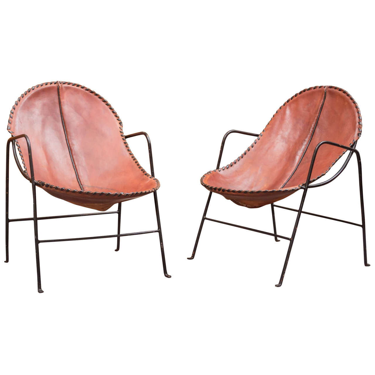 Pair Of Mexican Modern Chairs For