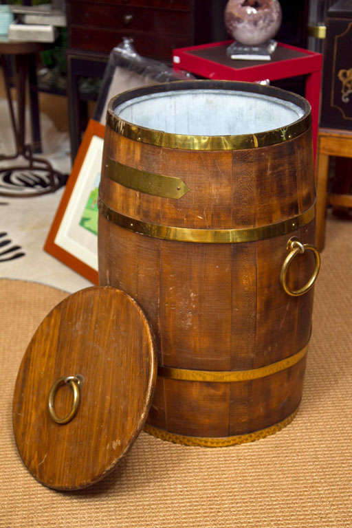 Early 20th Century Barrel Form Ice Cooler For Sale At 1stdibs