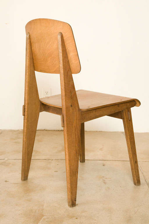 Jean prouve 39 chaise en bois 39 chair france 1942 at 1stdibs - Jean prouve chaise standard ...