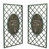 Large Lattice and Mirrored Panels with Sconses