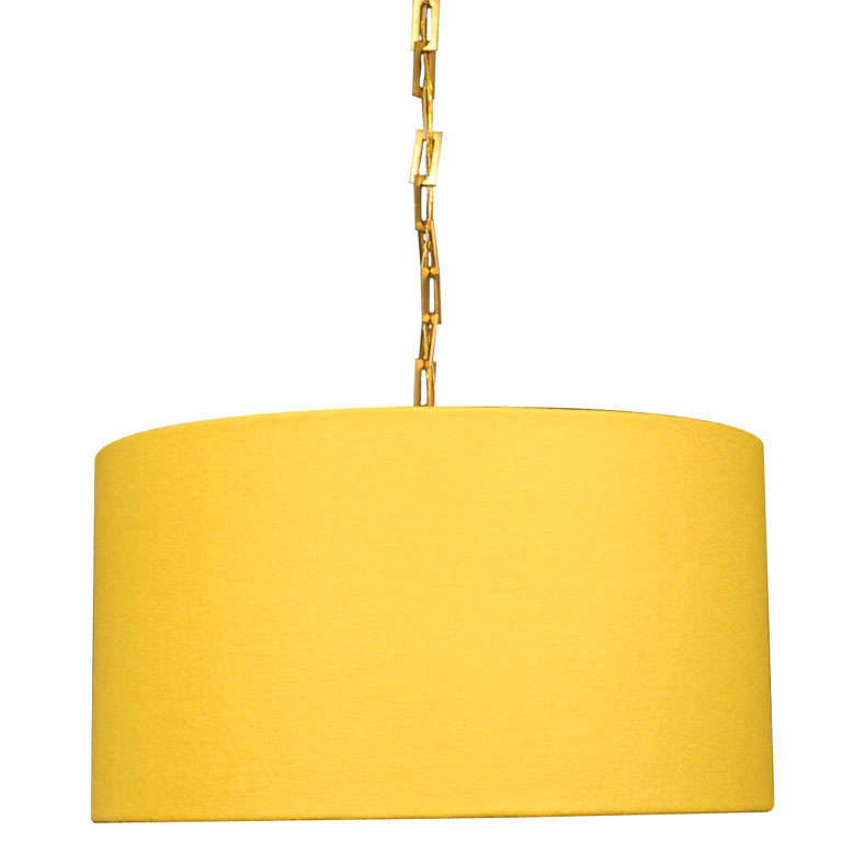 yellow drum pendant at 1stdibs