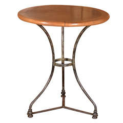 Antique Bistro Table With New Top.