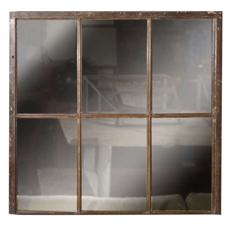 Antique window frame as mirror for sale at 1stdibs for Window mirrors for sale