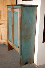 Fantastic 19thc Original Blue  Painted Jelly Cupboard image 7