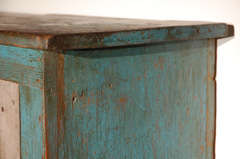 Fantastic 19thc Original Blue  Painted Jelly Cupboard image 8