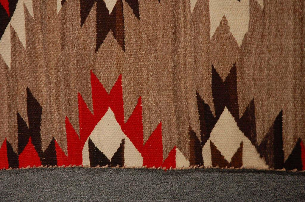 Rare Large Navajo Weaving Transitional Weaving Great