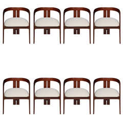 A Rare Set of 8 Tobia Scarpa Armchairs