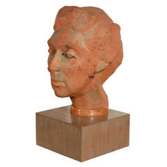 Terra Cotta Female Bust