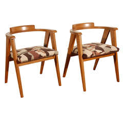 Set of Four Midcentury Compass Chairs
