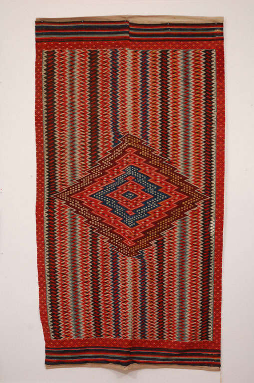 Antique Saltillo Serape Textile For Sale At 1stdibs