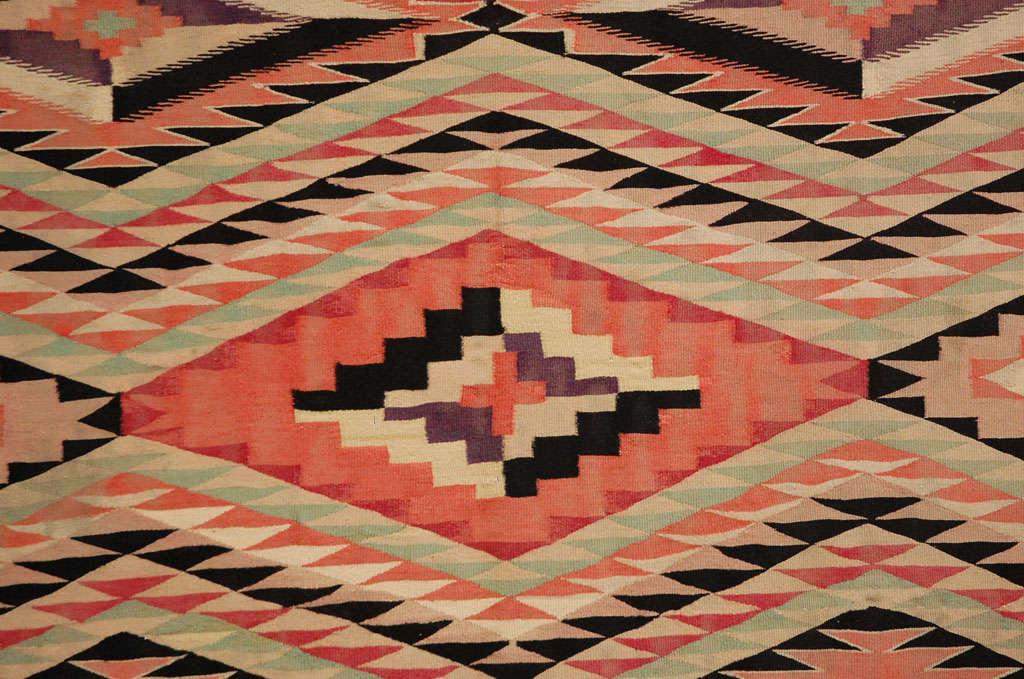 American Navajo Eye Dazzler Blanket For Sale