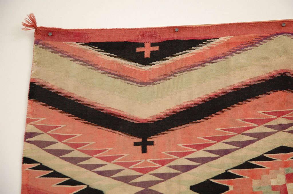 Navajo Eye Dazzler Blanket In Good Condition For Sale In Van Nuys, CA