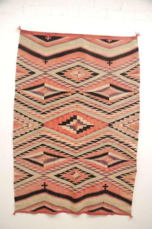 Native American Navajo woven textile.  Germantown/Aniline Dyes