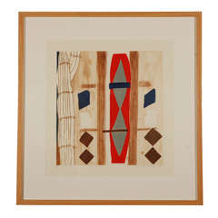 Charles Garabedian, color wood cut on paper, #V