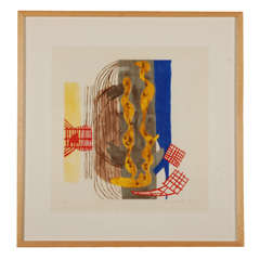 Charles Garabedian, color wood cut on paper, #IV