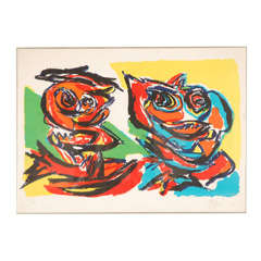 Karl Appel Color Lithograph on Paper
