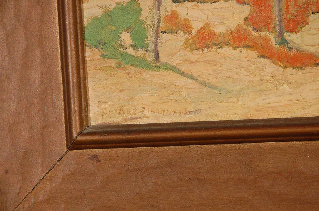 American Oil on Canvas, Adobe Near Santa Fe For Sale