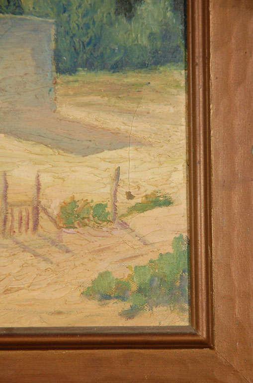 20th Century Oil on Canvas, Adobe Near Santa Fe For Sale
