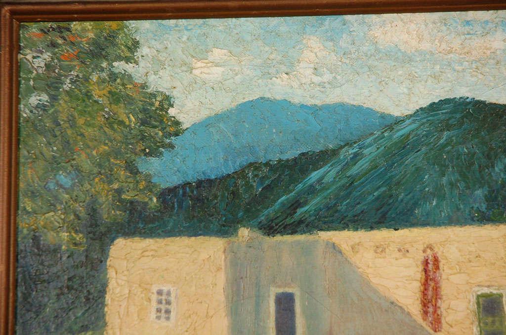 Oil on Canvas, Adobe Near Santa Fe For Sale 1