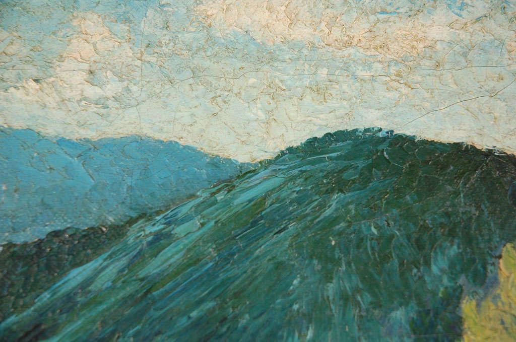 Oil on Canvas, Adobe Near Santa Fe For Sale 2