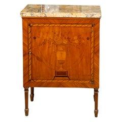 Late 18th Century Italian Neoclassical Inlaid Cabinet