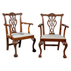 louis xv style fauteuil in walnut france c 1850 at 1stdibs. Black Bedroom Furniture Sets. Home Design Ideas