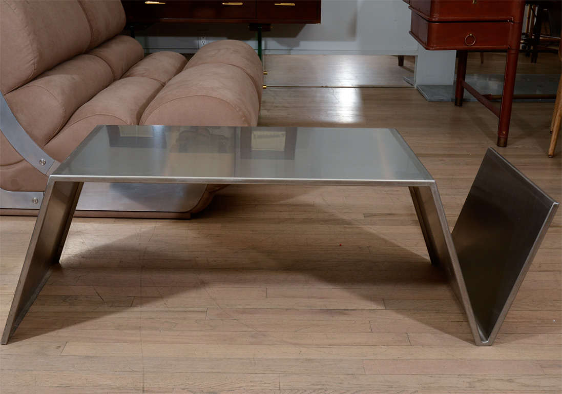 coffee table stainless steel