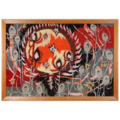 J.L. Viard Mid-Century Modern Tapestry