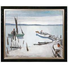Sailing Boat Painting by Peder Larsen