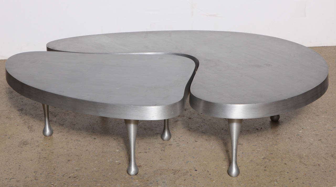 Frederick Keisler Cast Aluminum Nesting Tables, 1970u0027s Palazzetti  Re Edition 2