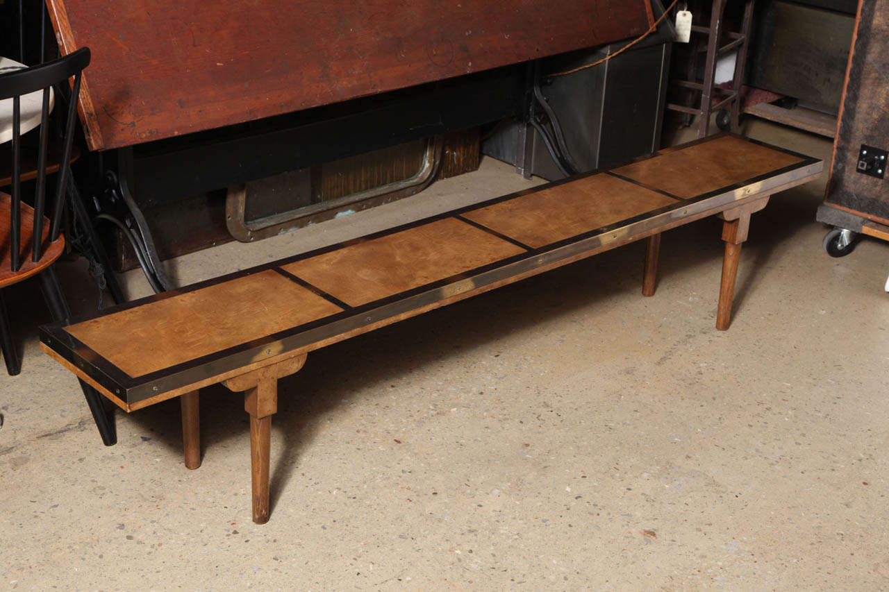Narrow mastercraft coffee table at 1stdibs for Long thin coffee table