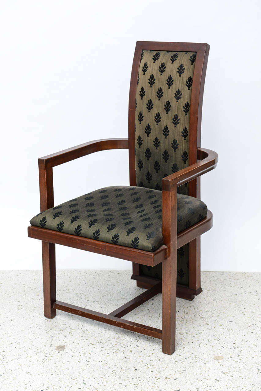 set of 12 frank lloyd wright taliesin mahogany dining chairs by henredon for sale at 1stdibs. Black Bedroom Furniture Sets. Home Design Ideas