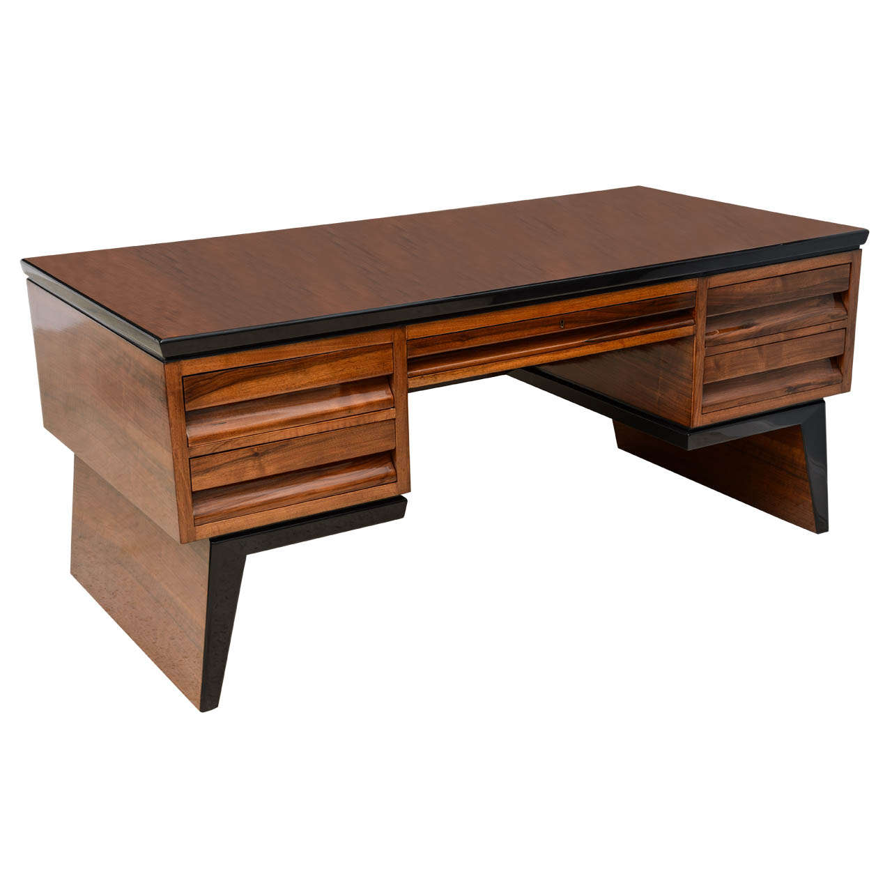 Fine italian modern walnut executive desk borsani for for Modern office desk for sale